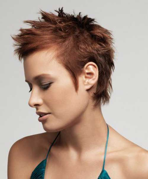 Amazing Short Spiky Haircut for Women