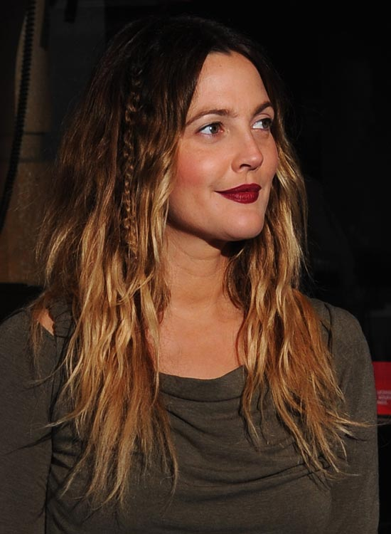 Beachy Ombre Waves With Side Braid