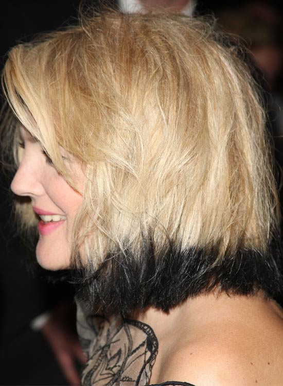 Blond Bob With Dyed Edges