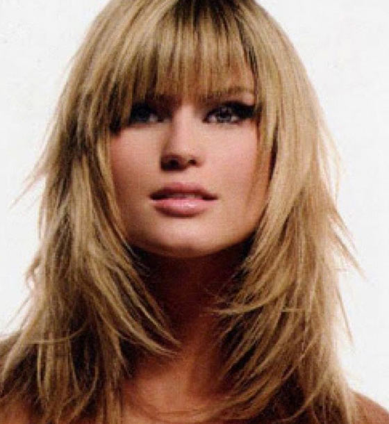 Blond Layers With Fringes