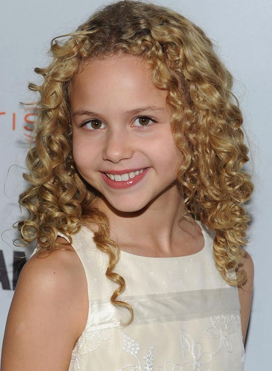 Blonde Curls in Medium Length