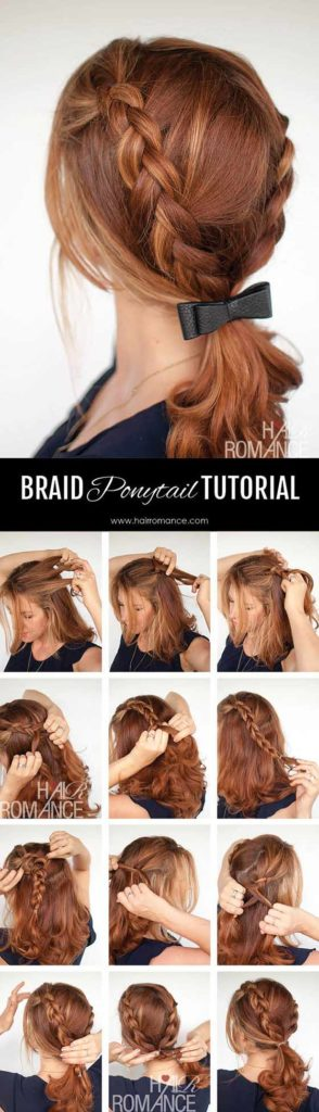 Braid Ponytail With Bow Accessory