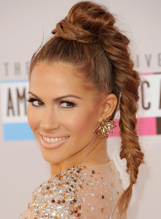 Braided Topknot With High Fishtail Braid