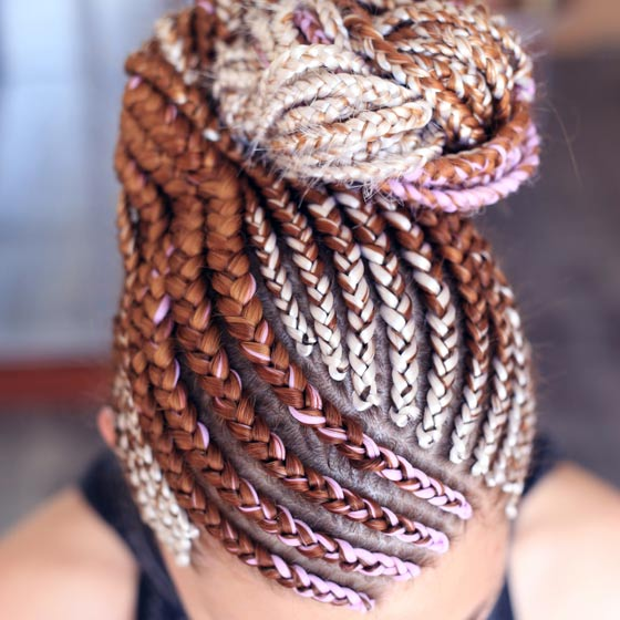 Caramel Strawberry Cornrows