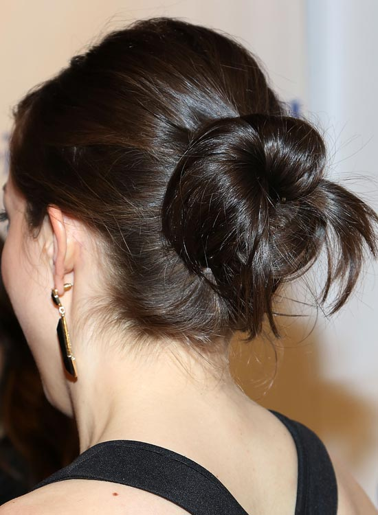 Casual Twisted Bun With Puffy Crown