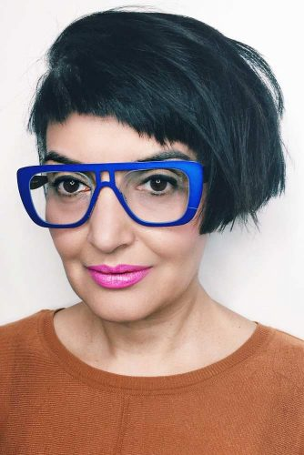 Cool Black Pixie-Bob With Very Short Bangs
