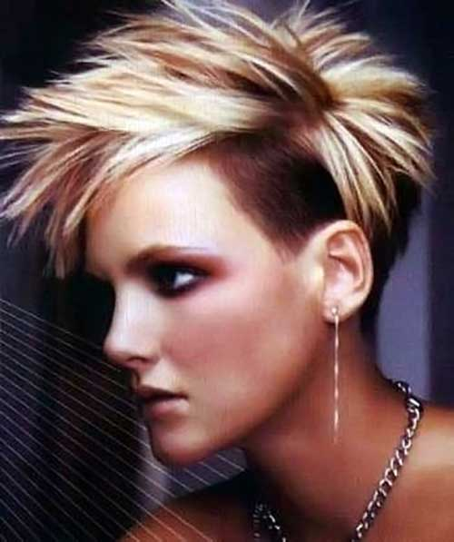 Cool Spiky Pixie Hairstyle with Undercut