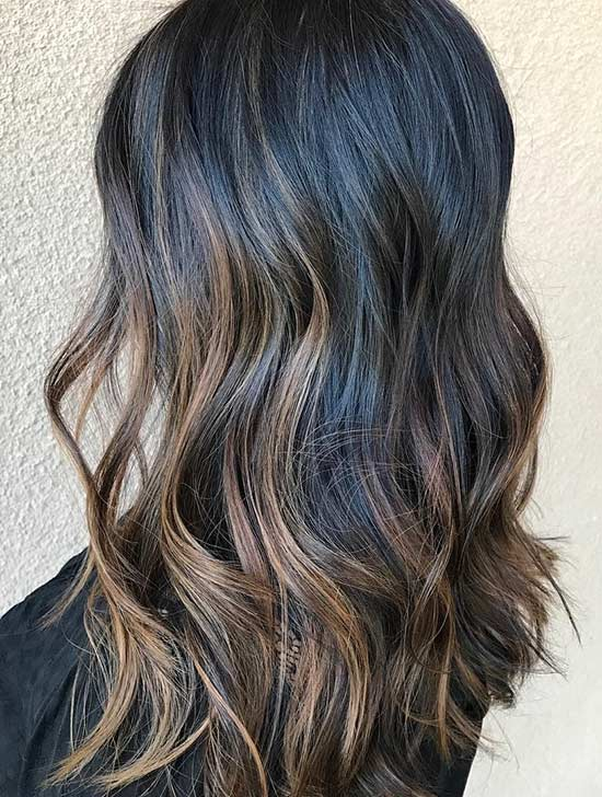 Cool Toned Caramel Highlights