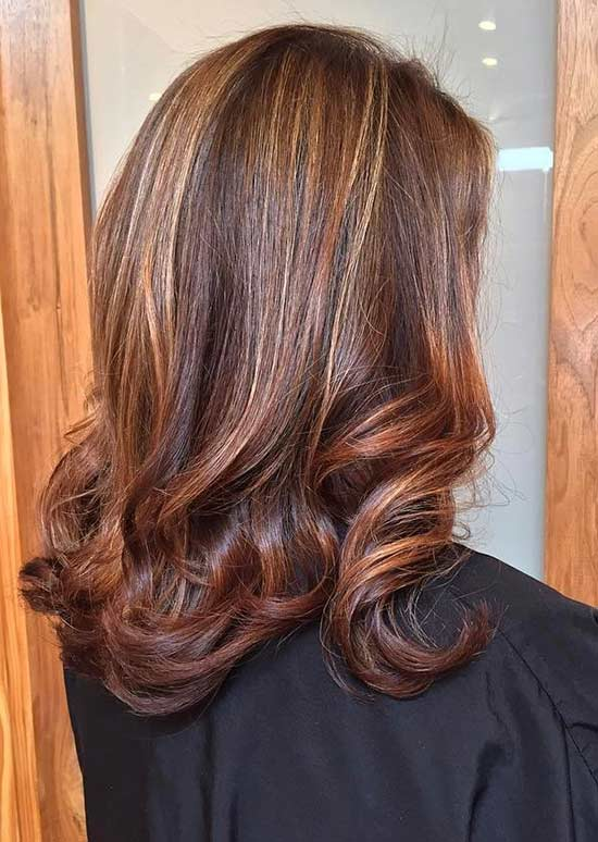 Copper And Caramel Highlights