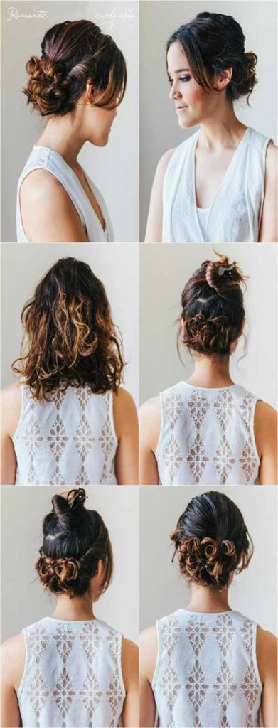 Curly Ends Updo
