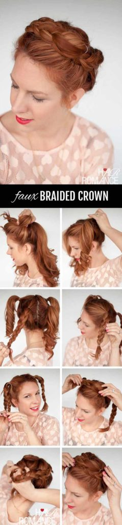 Faux Braided Crown