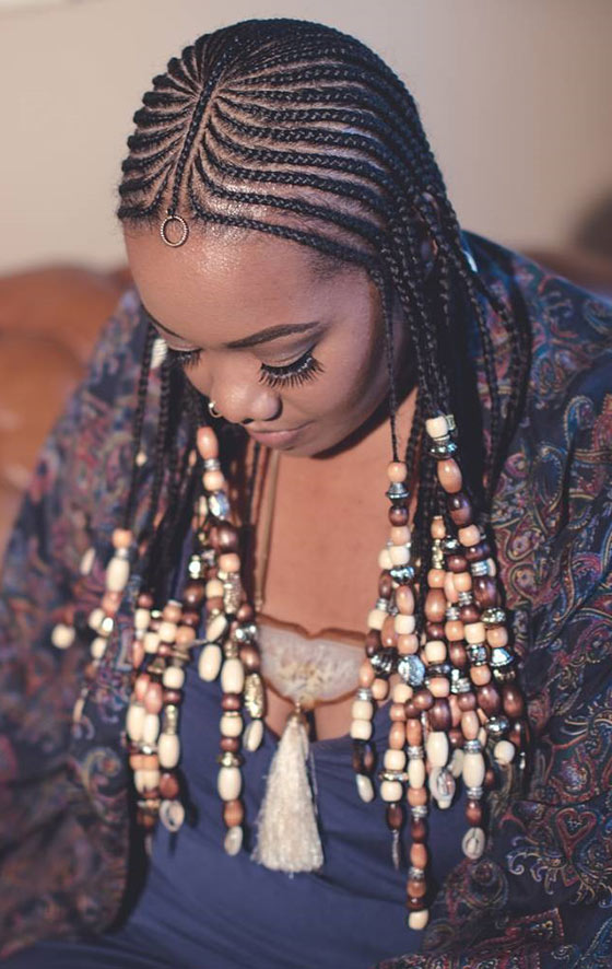 Feed-in Beaded Braids