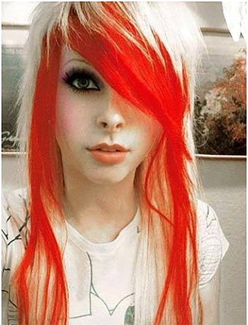 Fiery Red And Platinum Emo