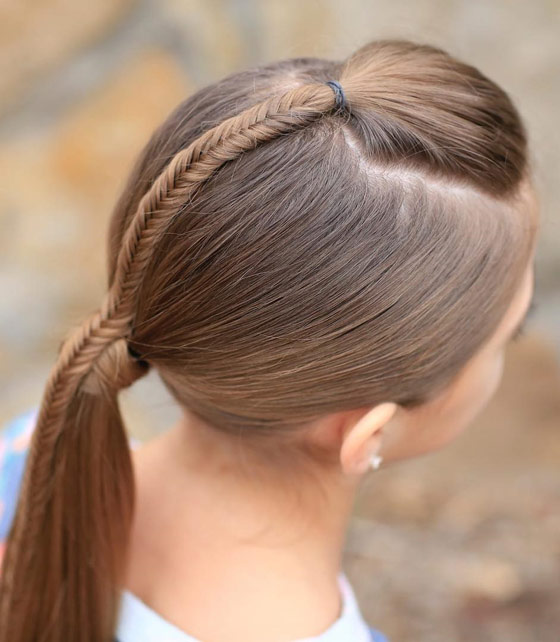 Fishtail Accented Ponytail
