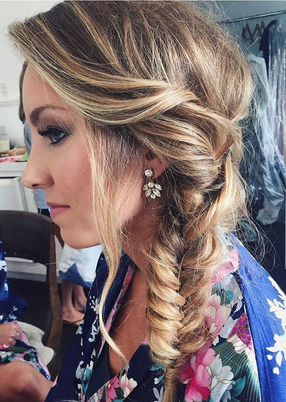 Fishtail Braid With Tousled Crown