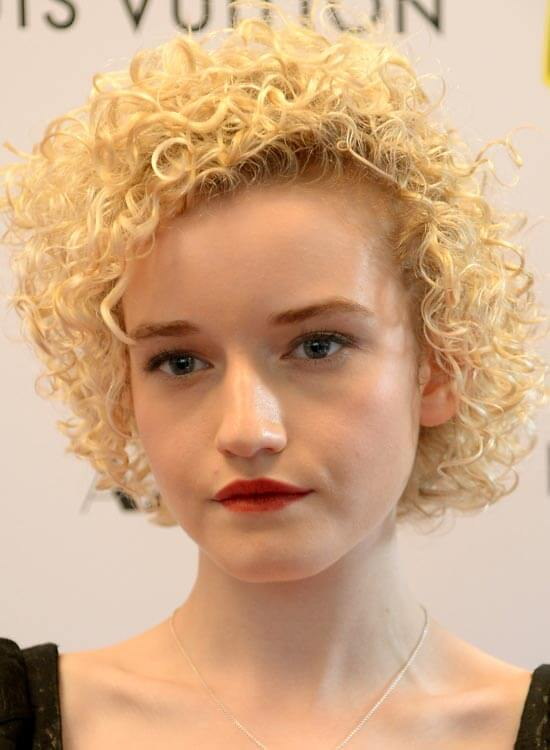 Full-Head Super Curly Beige Blonde Bob