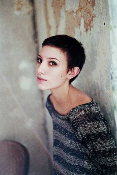 Girl with Buzz Cut