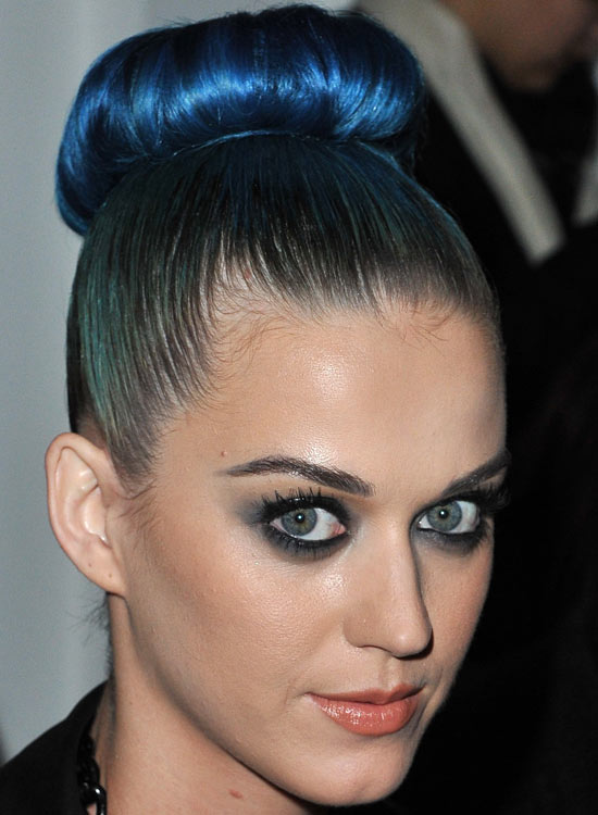 High Donut Electric Blue Bun With Silky Smooth Finish