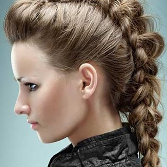 High French Braid With Pouf