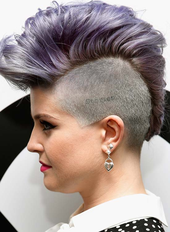 High, Wavy and Light Purple Mohawk