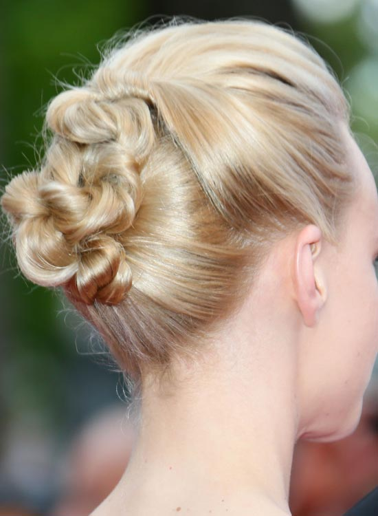 Highly Twisted Hairdo With Puffy Crown