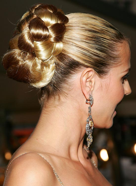 Huge Bun With Two-Section Braid