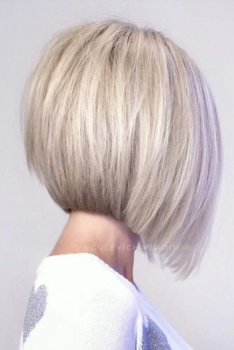Icy Blonde A-line Straight Bob