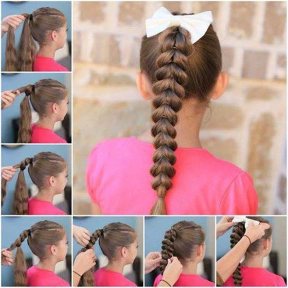 Inverted Hearts Braided Ponytail