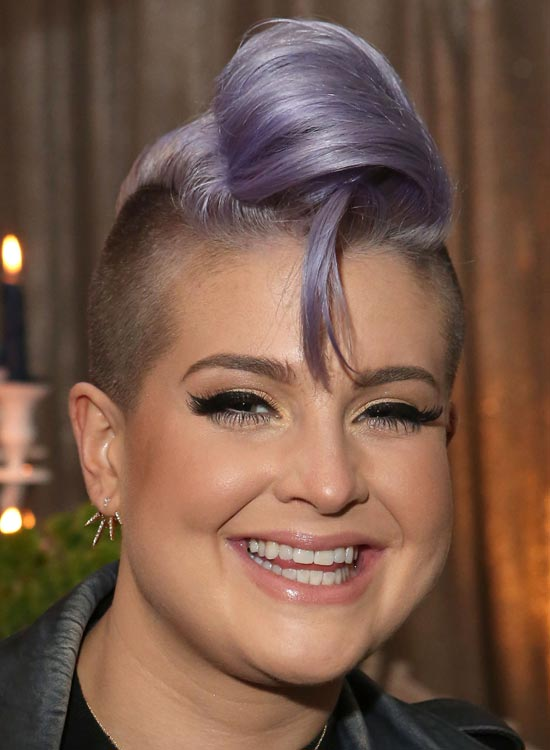 Light Purple Folded Waves with Shaved Sides