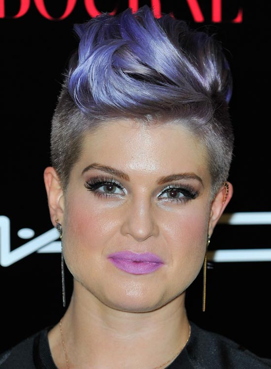 Light Purple Textured Waves with Shaved Sides