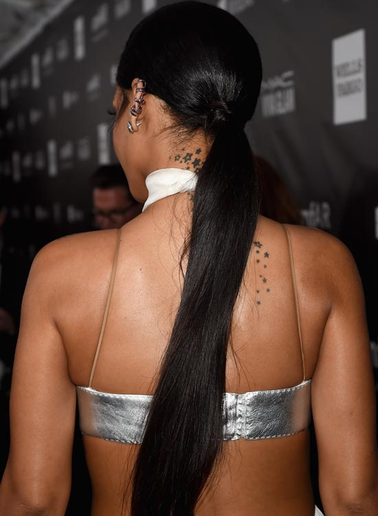 Long Black Sleek Ponytail