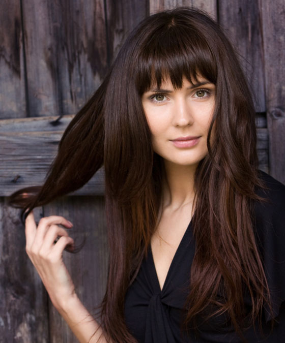 Long Layers With Simple Straight Cut Bangs