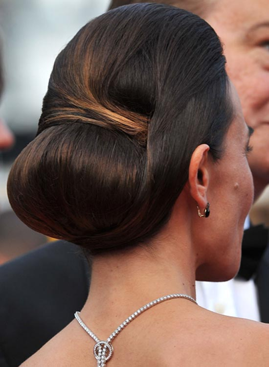 Low Bun With Turns And Wraps