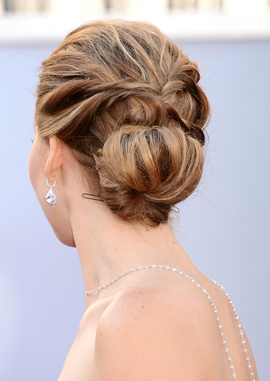 Low Messy Bun with Twisted Strands