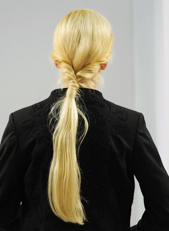 Low twisted Ponytail with Hair Wrap