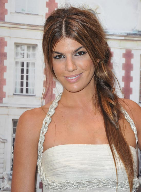 Messy Casual Side Braid Messy Center-Parted Side Braid with Loose Hair
