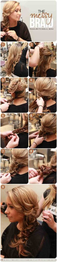 Messy Double Fishtail Braid