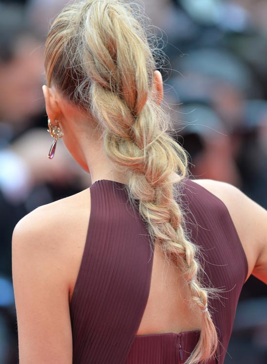 Messy High and Loose Braided Ponytail