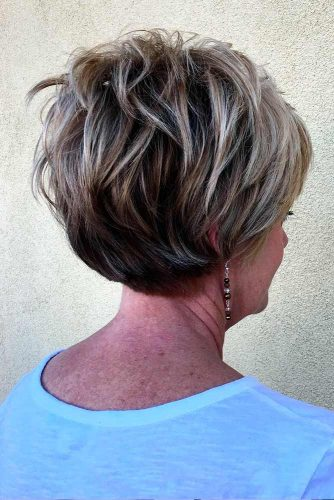 Messy, Short And Bright Hairstyle