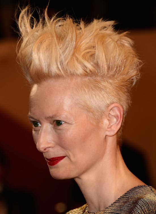 Messy Voluminous Mohawk with Shaved Sides