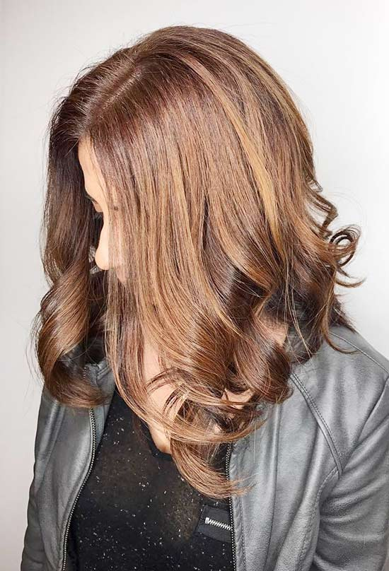 Metallic Caramel Highlights
