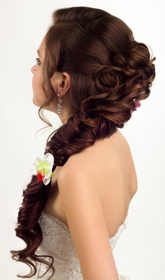 Milk Maid Braid, Bouffant Bun And Low Run Pony