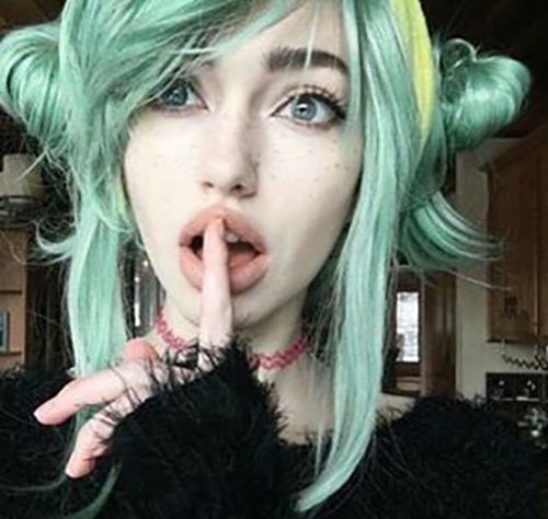 Mint Green And Yellow Half Loop Pigtails