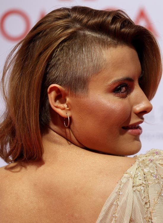 One Side Shaved Long Bob Hairstyle