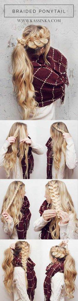 Pancaked Braided Ponytail