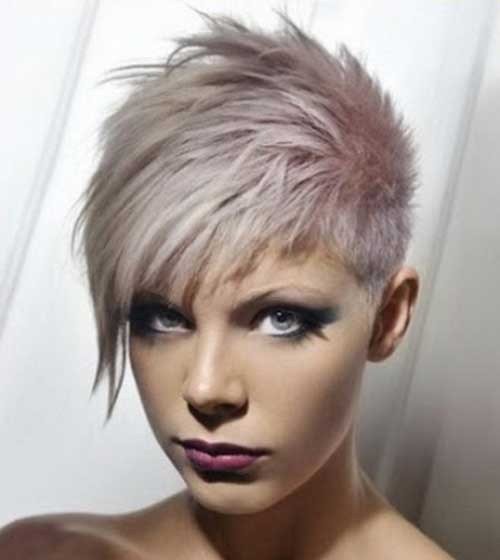 Pastel Grey Hairdo with Spikes