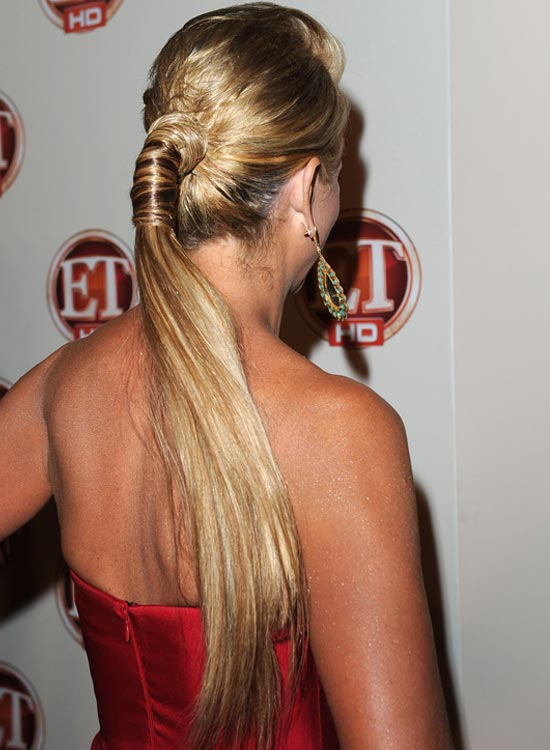Puffy Ponytail with Wraps