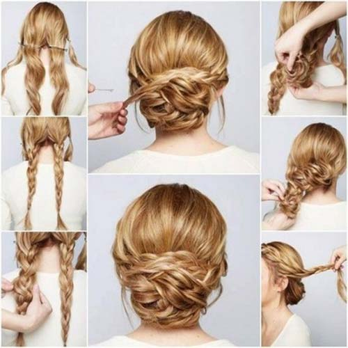 Rolled And Twisted Updo