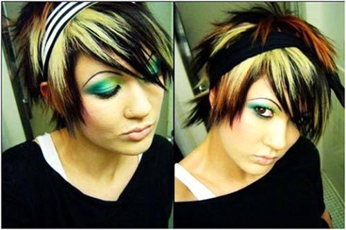 Shaded Emo Hairdo With Spikes