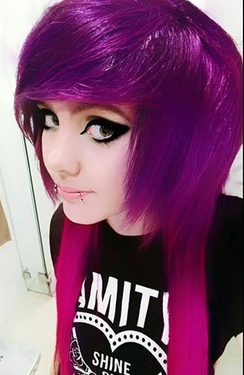 Shades Of Magenta Ombre Emo Layers